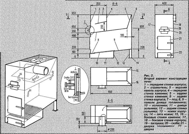 Схема изготовления печей - Камины и печи Дизайн каминов Производство