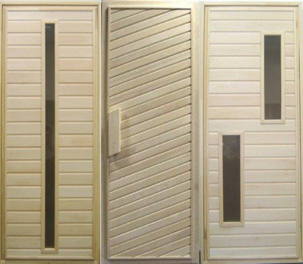 Заводские двери для бани
