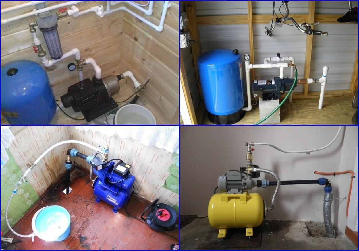 Размещения поверхностных насосов и насосных станций в доме.