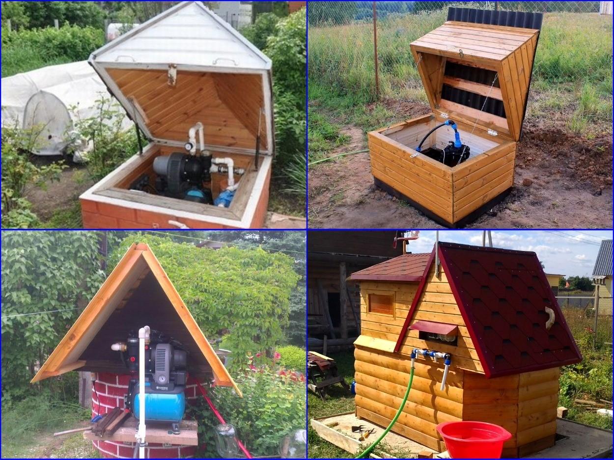 Защитно-декоративные домики для колодцев и скважин.